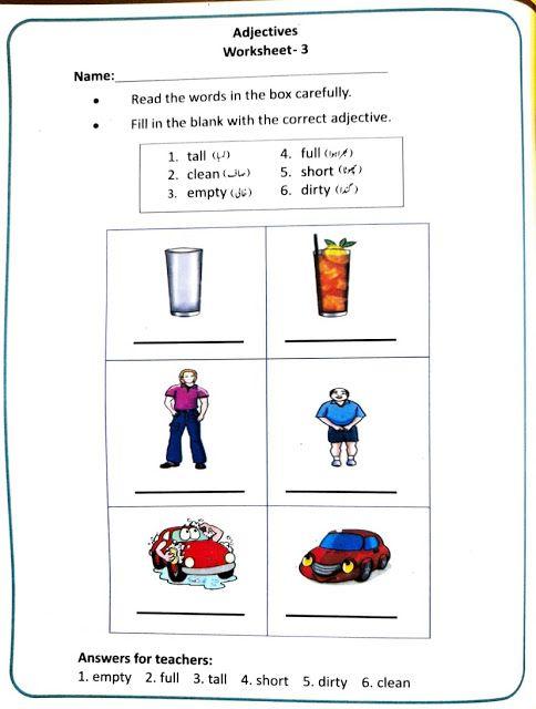 Adjectives Worksheet In 2021 Teachers Study Preparation Teacher Adjectives worksheets with answers for