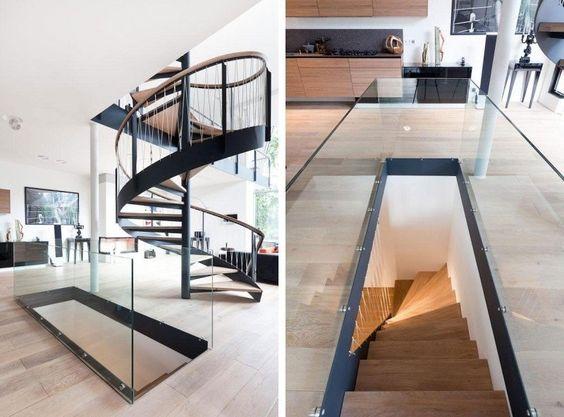 escalier en colimaçon et escalier quart tournant