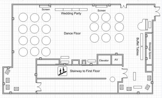 Dining center banquet hall wedding floor plan wedding for Banquet hall floor plan