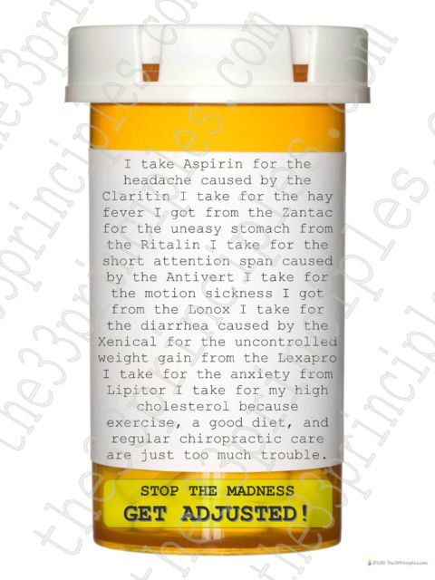 Hey, I found this really awesome Etsy listing at https://www.etsy.com/listing/164231686/chiropractic-poster-stop-the-drug