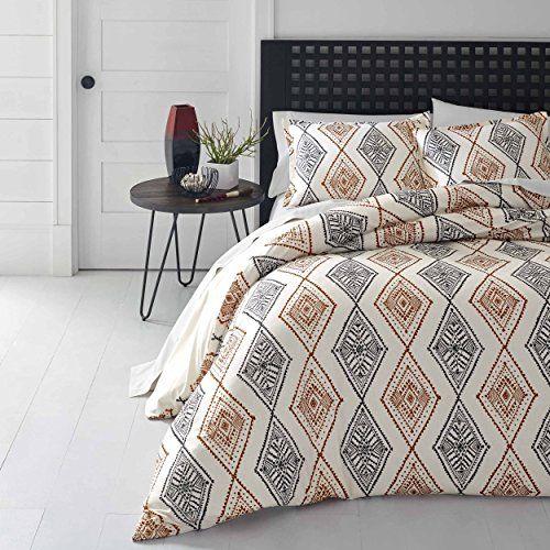 3 Piece Burnt Orange Grey Off White Aztec Southwest Theme Https Www Amazon Com Dp B0725vgzhd Ref Cm Sw R Pi Dp Simple Bedding Sets Ikat Bedding Simple Bed