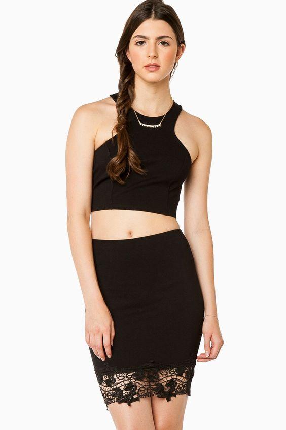 Bellina Pencil Skirt in Black / ShopSosie #shopsosie #sosie