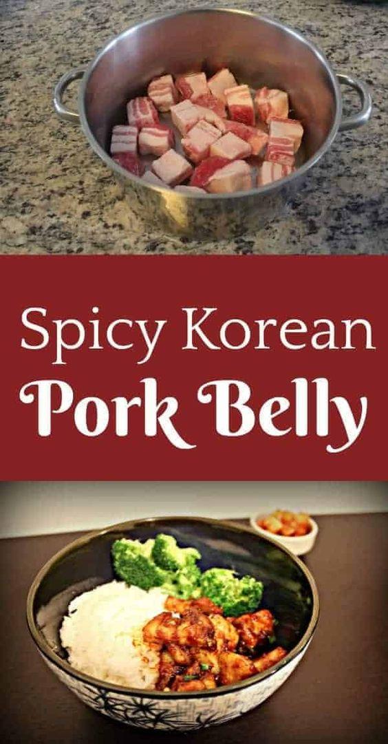 Spicy Korean Pork Belly