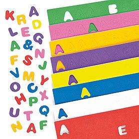 a bumper pack of foam letter stickers that are great for card making collage and