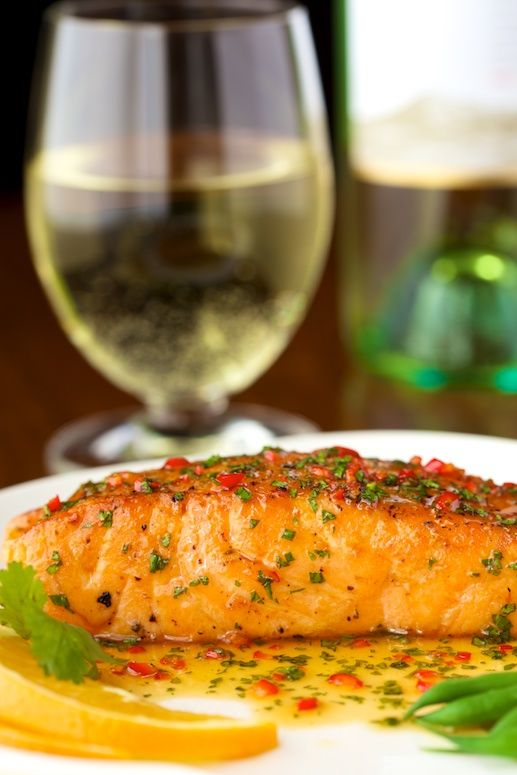 Pan-Seared Salmon with Sweet & Spicy Orange Coconut Sauce