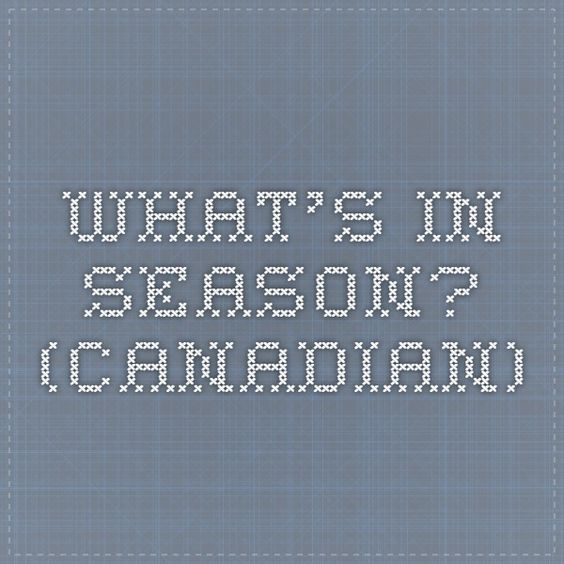 What's in Season? (Canadian)
