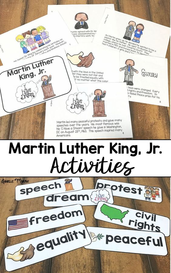 Fourth Grade Martin Luther King, Jr. Activities