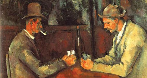 The Card Players of Paul Cezanne is the most expensive work of art ever sold, it was sold in 2011 for $250 million...