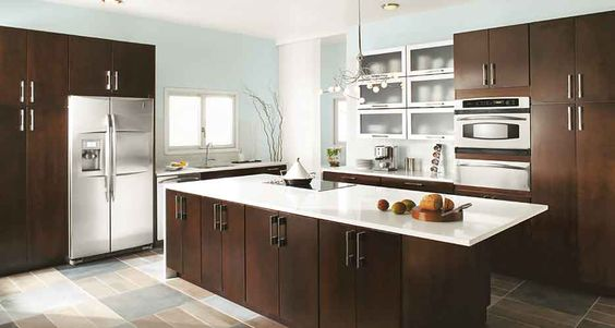 Kitchen Inspiration Gallery - like the metal flip up cabinets