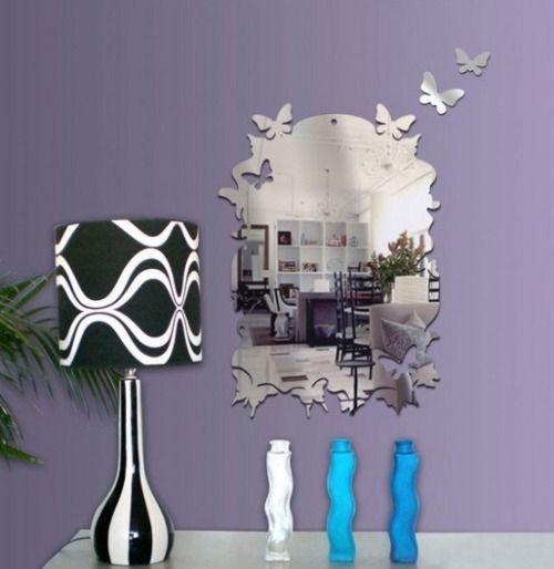pegatinas de espejos para decorar paredes