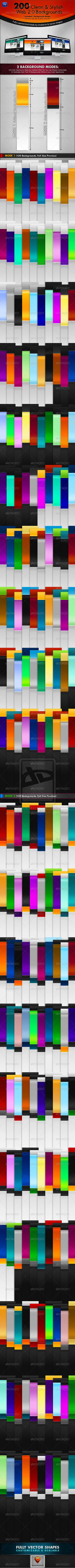 200 Clean and Stylish Web 2.0 Backgrounds by ~behzadblack on deviantART