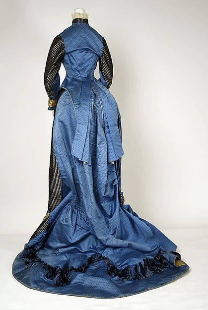 Dress Date: 1880 Culture: French Medium: silk, cotton Dimensions: (a) Length at CB: 40 in. (101.6 cm) (b) Length at CB: 41 in. (104.1 cm) Credit Line: Gift of Miss Margaret W. McCutchen, 1955Dress