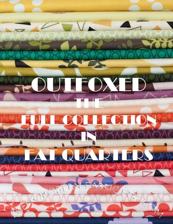 Trying to decide if I can afford to purchase this right now. LAST AVAILABLE Fat Quarter Full Collection Outfoxed, 27 Fat Quarters, Lizzy House for Andover Fabrics, 100% Cotton Fabric. $74.25, via Etsy.