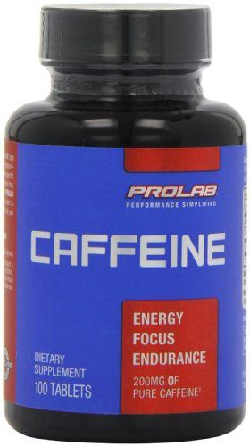ProLab Caffeine Maximum Potency 200mg Tablets, 100-Count Be invincible. Exergetix.Provides the energizing effects of caffeine without added sugar or calories to support your training needs without compromising your dietary goals www.i-workoutplan...