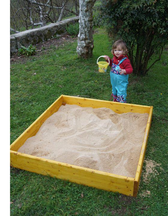 C mo construir un arenero infantil a jugar pinterest - Areneros para ninos ...