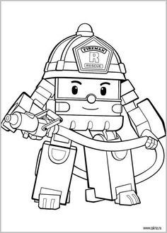 Keren 30 Gambar Mewarnai Kartun Robocar Poli The Best Free Robocar Coloring Page Images Download From 35 Download Dow Kartun Halaman Mewarnai Truk Monster