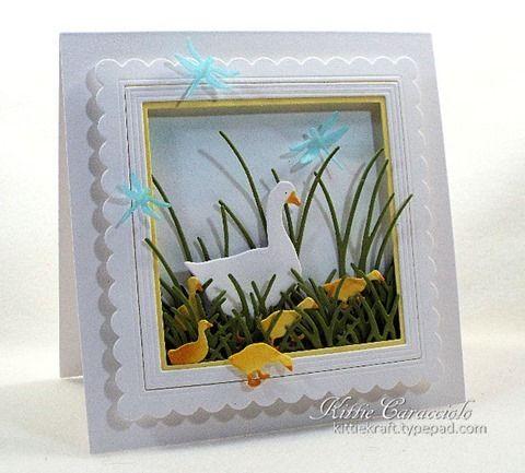 spring ducks card by Kittie Caracciolo