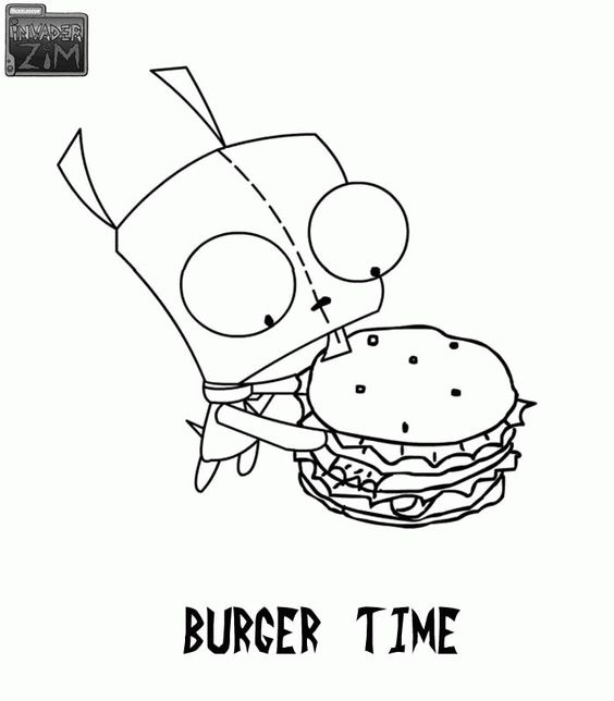 invader zim coloring pages