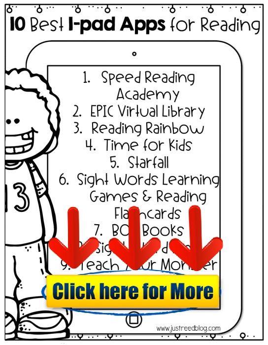 Top Ten Reading Apps for Kindergarten through Second Grade #android
