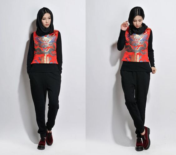 Chinese Style Exotic Vest with Light Padded Lining / by Ramies