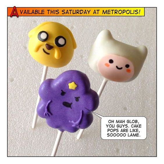 Adventure Time cake pops: