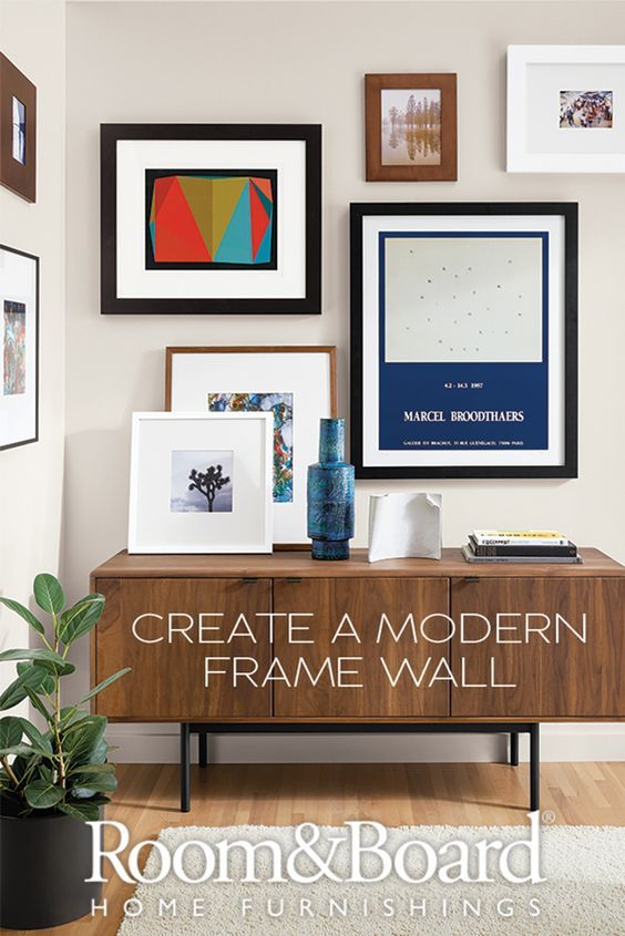 Learn How To Create A Modern Frame Wall With Our Helpful Guide And Video Frames On Wall Modern Frames Decor