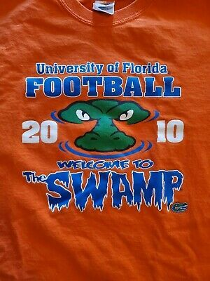 Florida Gators The Swamp Men S Medium Orange 2010 Football T Shirt Pepsi Fashion Sports Mem Cards Fan Shop Fanap Football Tshirts Florida Gators Gator