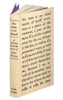 No Man is an Island by John Donne Folio Society: