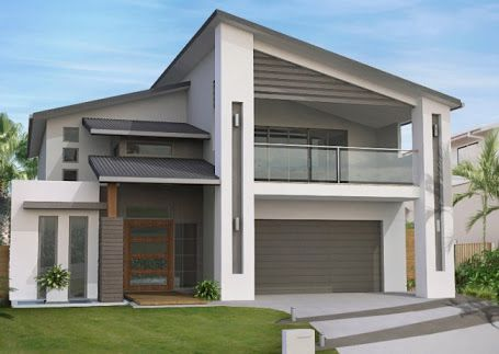 double storey house plans for small lots - Google Search
