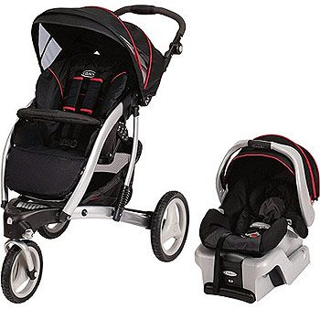 signature series by graco trekko 3 wheel travel system stroller with snugride 30 jive on the. Black Bedroom Furniture Sets. Home Design Ideas