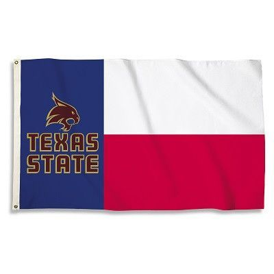 NCAA 3 Ft. X 5 Ft. Flag W/Grommets Texas State Bobcats - 95395