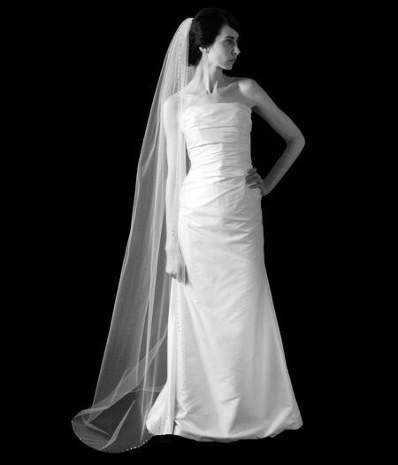 Bring on the drama! We love! Sara Gabriel: Renee Veil. http://www.bellableubridal.com/by-designer/sara-gabriel-veils-headpieces/veiling-and-headpieces/veils/medium-long-veils/sara-gabriel-renee-veil?cPath=1153_1198_1209_1213_1985