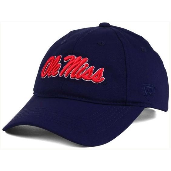 Top of the World Ole Miss Rebels Rush Adjustable Cap ($25) ❤ liked on Polyvore featuring men's fashion, men's accessories, men's hats, navy and mens caps and hats
