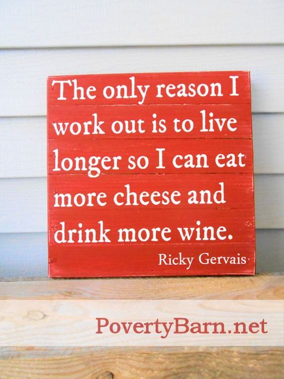 New reclaimed wood sign from the Poverty Barn studio. This one is a humorous quote from Ricky Gervais. $25 plus shipping.