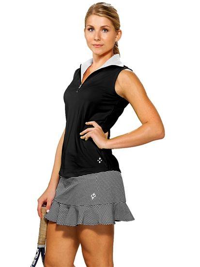 JoFit Casablanca Ruffle Bottom #Tennis Skort in Black/White Gingham Check #Golf4Her