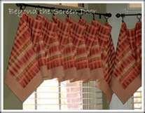 Cloth napkins or squares of cloth for a valence?