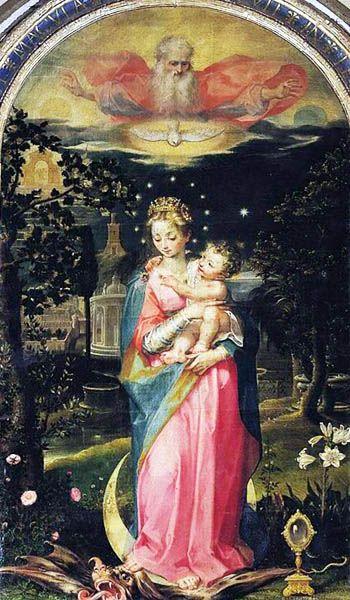 L'«Immacolata concezione», Francesco Vanni (1588);  dans immagini sacre bba79f75375c7a17247d0c9babb7a5b5