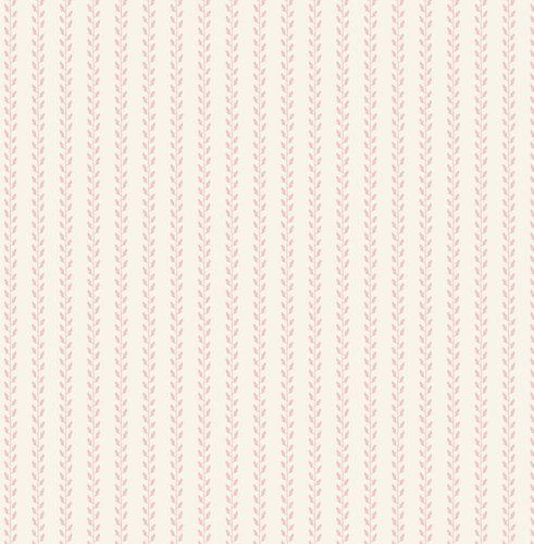 """Leaf Garland Pink"" Scandi Floral Fabric by Tilda"