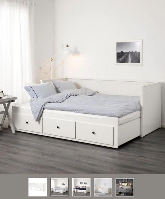 Hemnes Tagesbett 3 Schubladen 2 Matratzen Weiss Malfors Fest 80x200 Cm Tagesbett Hemnes Tagesbett Bett