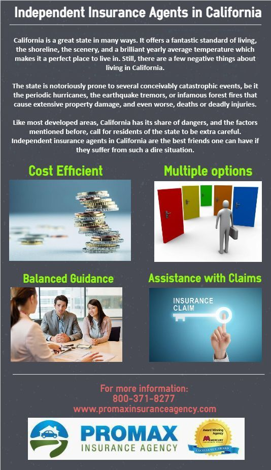 Independent Insurance Agents In California Usually Represent More Than One Insurance Company Independent Insurance Insurance Agent Affordable Health Insurance