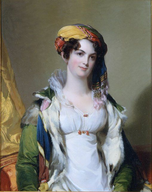 Mrs. Robert Gilmor, Jr.   (Sarah Reeve Ladson)  Painted by Thomas Sully  1823  Gibbes Museum: