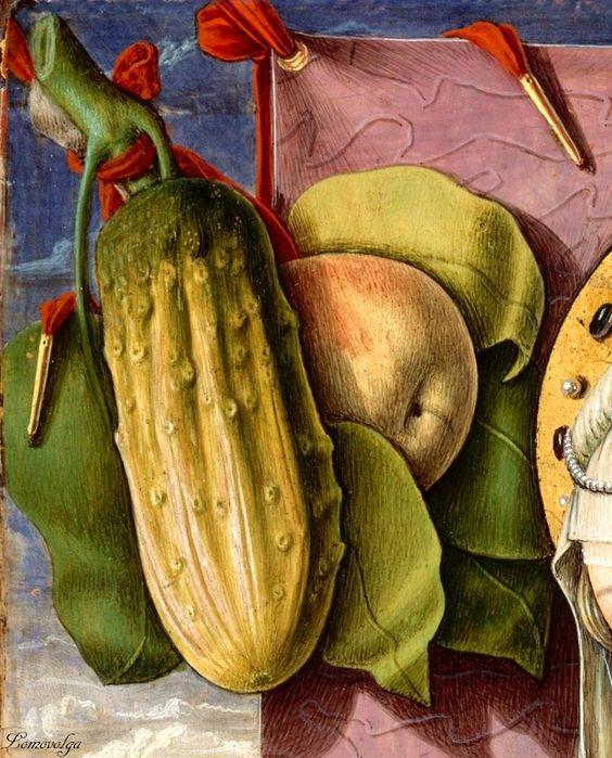 Carlo Crivelli, Marie Madeleine. 1480 (detail):