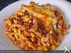 Nudel - Hackfleisch - Auflauf, ein schmackhaftes Rezept aus der Kategorie Pasta & Nudel. Bewertungen: 159. Durchschnitt: Ø 4,4.