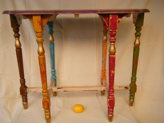 Boho Gypsy Chic Painted Side Table