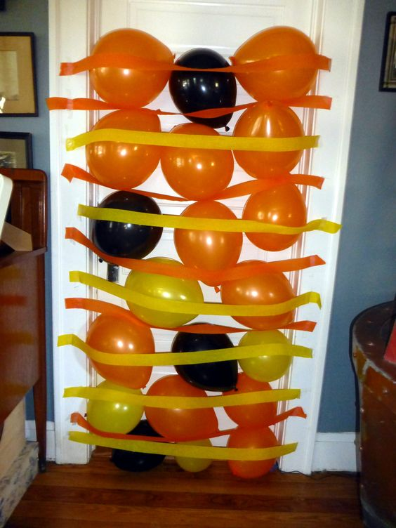 Birthday balloon avalanche  (with construction theme)