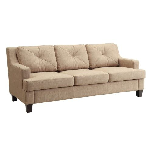 Tremendous Chelsea Lane Upholstered Tufted Sofa Light Brown Brown Ocoug Best Dining Table And Chair Ideas Images Ocougorg