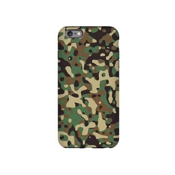 camo print iPhone Plus 6 Tough Case ($30) ❤ liked on Polyvore featuring accessories and tech accessories