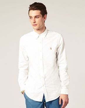 Shop Polo Ralph Lauren Oxford Shirt In Slim Fit White at ASOS. Discover fashion online.