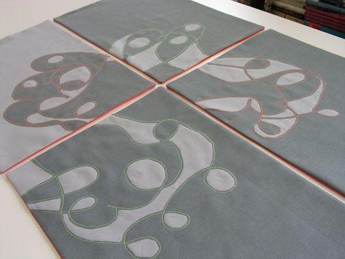reverse applique place mats // via Design*Sponge