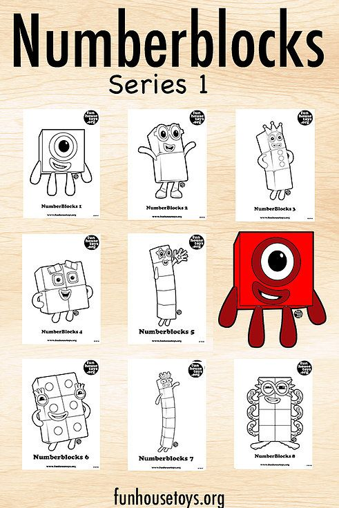 Numberblocks Series 1 Math For Kids Activities Writing Center